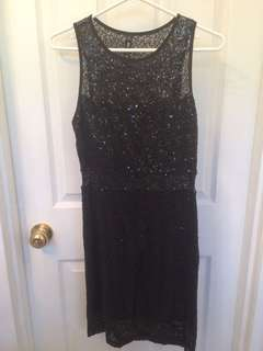 Black sequins party dress size M