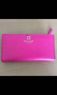 Kate spade 桃紅 shocking pink 銀包