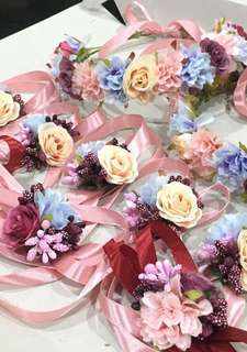 Handmade corsages and floral headbands