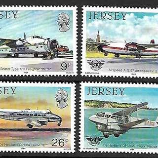 澤西島1984國際民航組織40週年飛機4全新