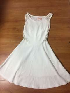 White dress with detailed lace