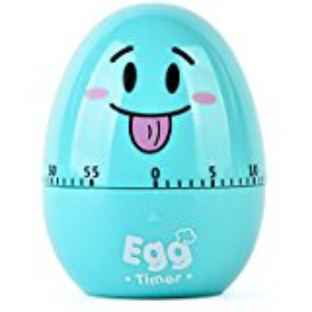 522. Buimin Idea Of Smiling Face Egg Shaped Plastic Timer Kitchen ...