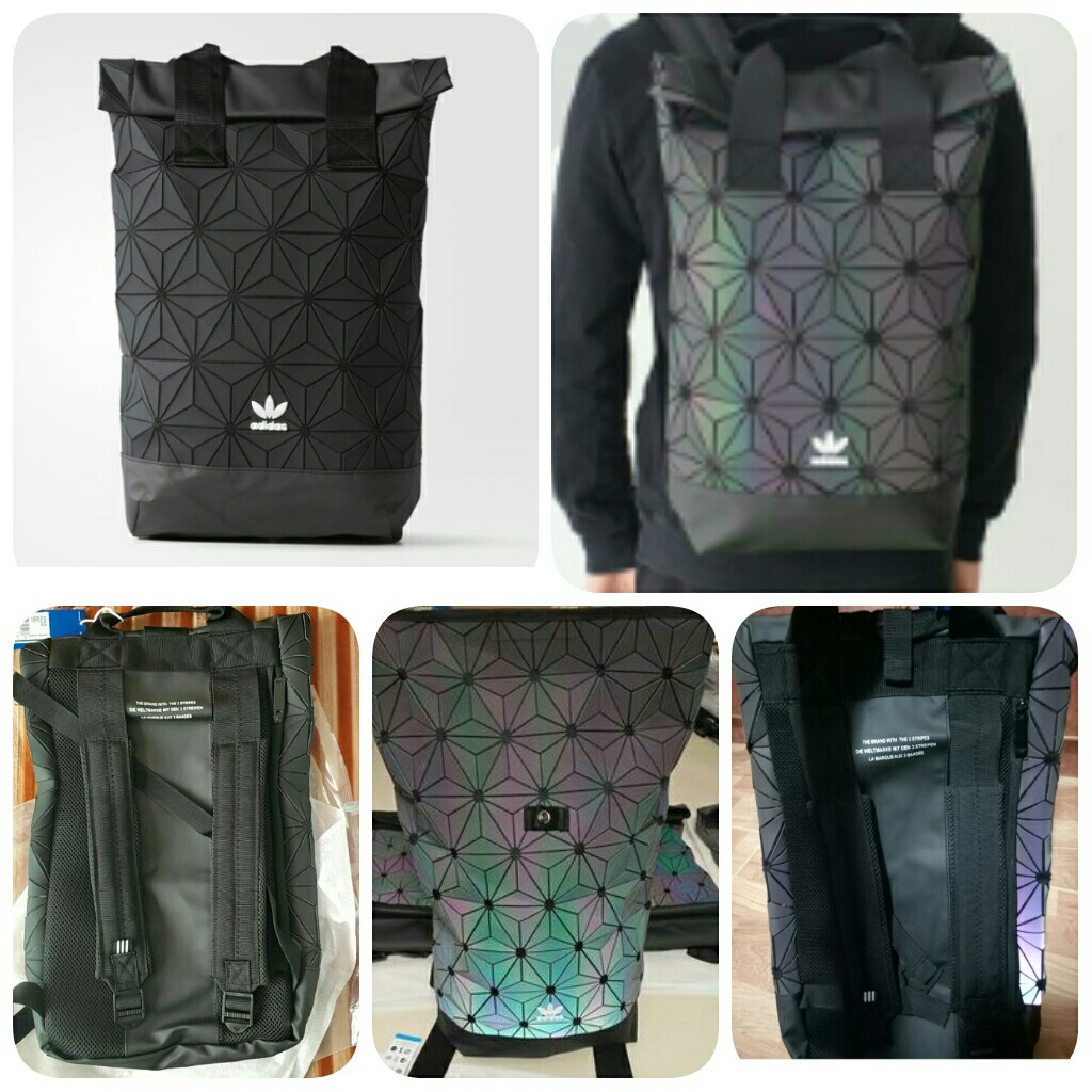 Adidas 3D ROLL TOP BACKPACK ISSEY MIYAKE - Black   Rainbow (CNY ... ead80e1cccfa4
