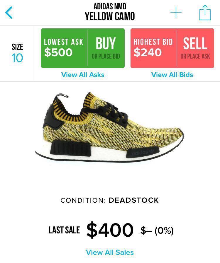 b00ab2ce9 Adidas nmd yellow camo runner pk