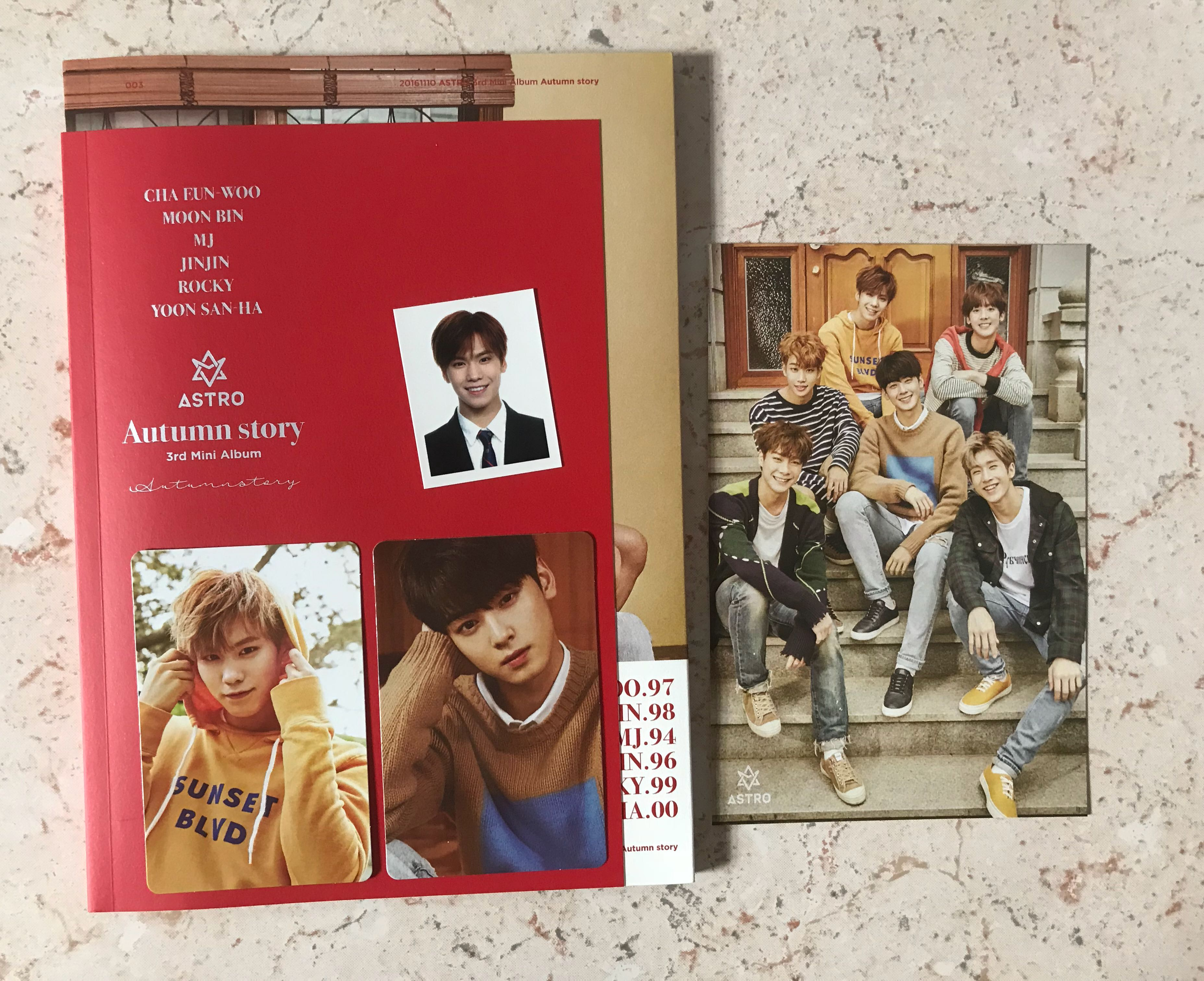Astro Autumn Story Album (Red ver), K-Wave on Carousell