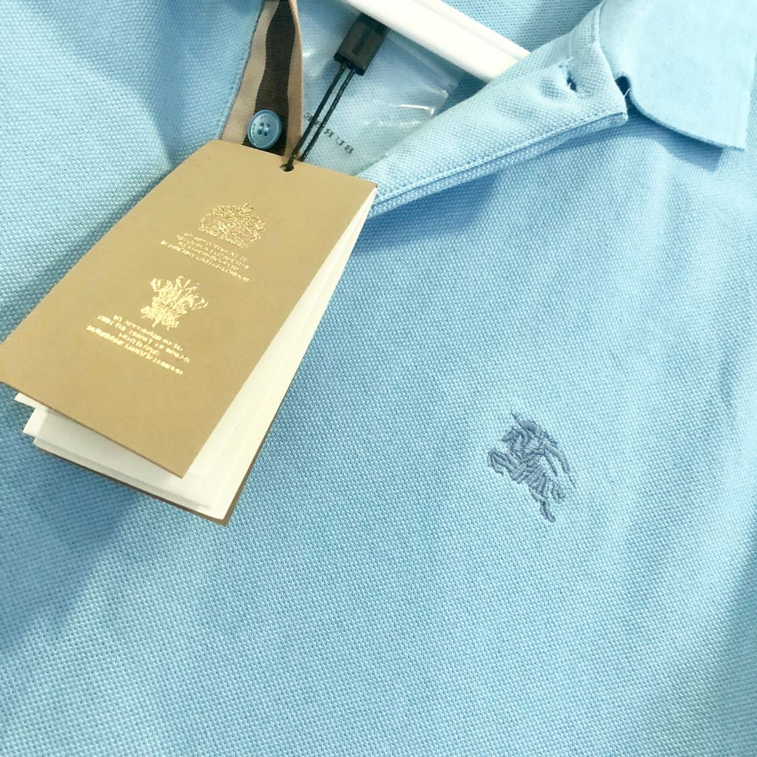 f135c8d0 Authentic Burberry Polo Shirt baby blue, Men's Fashion, Clothes, Outerwear  on Carousell