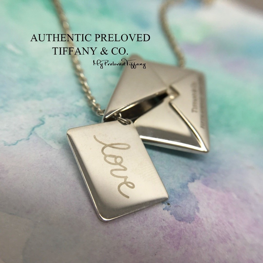 dc261a19b Authentic Tiffany & Co Sweet Nothing's Love Letter Envelope Charm Pendant  Silver Necklace, Women's Fashion, Jewellery, Necklaces on Carousell