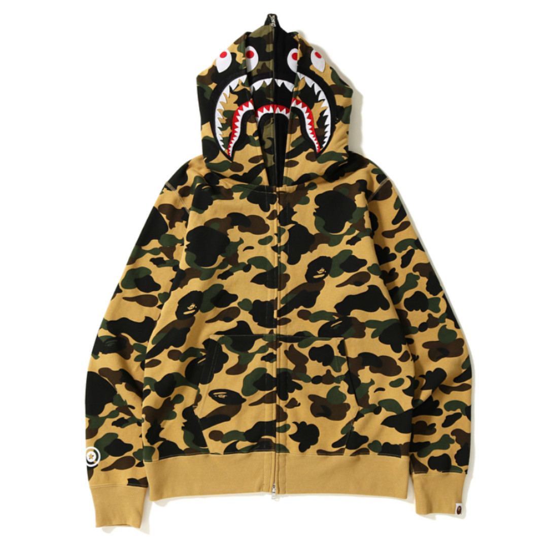 4859557348b6 BAPE 1st Camo Wide Shark Full Zip Double Hoodie