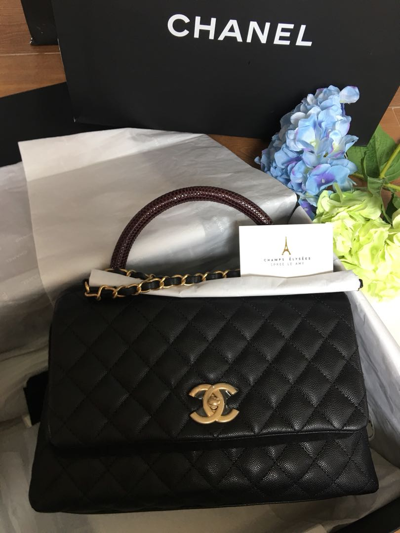cee28f09b4d193 Bn Chanel Coco Handle, Luxury, Bags & Wallets, Handbags on Carousell