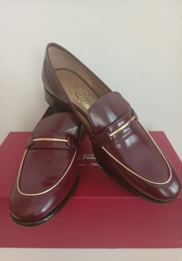 4eab7275d1682 Final Price - BNIB Salvatore Ferragamo Shoes Size 8 Leather Loafers ...