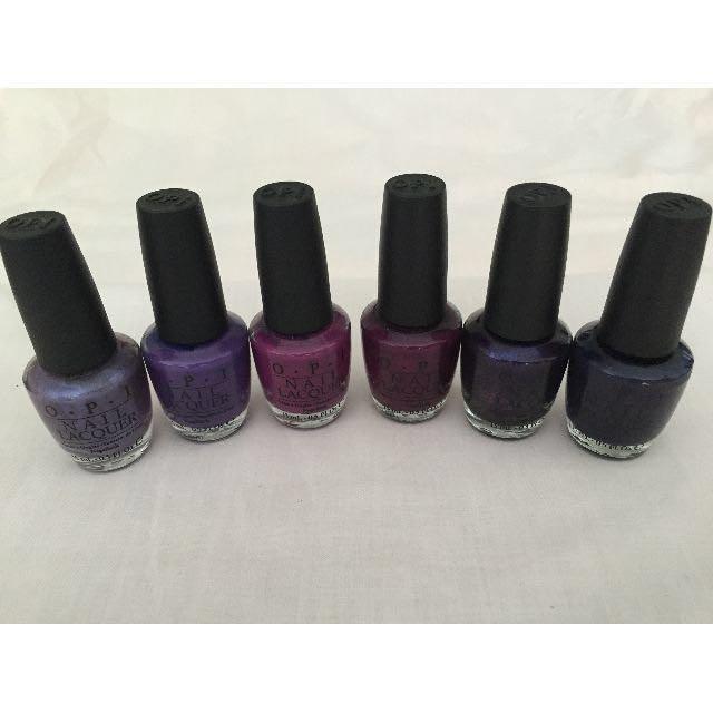 Brand New and Authentic OPI - Purple/Dark Purple/DarkBrown/Brown ...