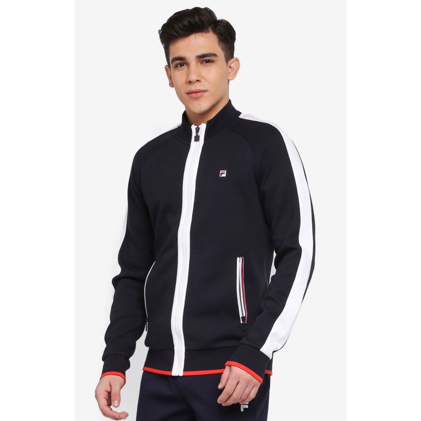 ea727ef36f60 FILA Ginny Knit Zip Top Jacket, Men's Fashion, Clothes, Outerwear on ...