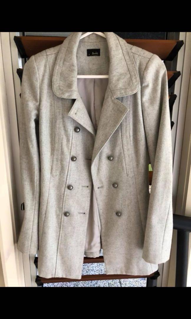 Gorgeous Grey Bardot Coat - Size 8