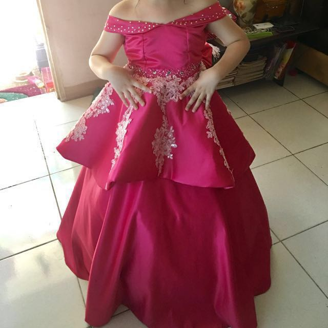 Gown for kids 7th Birthday, Babies & Kids, Girls\' Apparel on Carousell