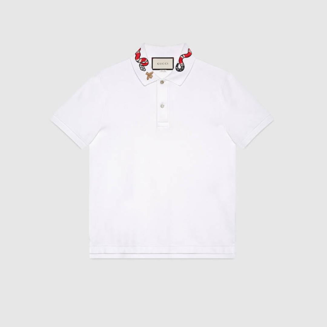 a291c82da Gucci Snake Polo Tee, Men's Fashion, Clothes, Tops on Carousell