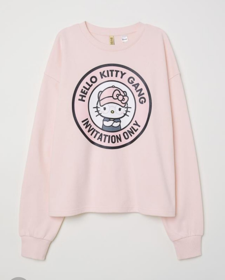 c662a4a02 Brand New H & M Hello Kitty Pink Sweater ( M size ), Women's Fashion ...
