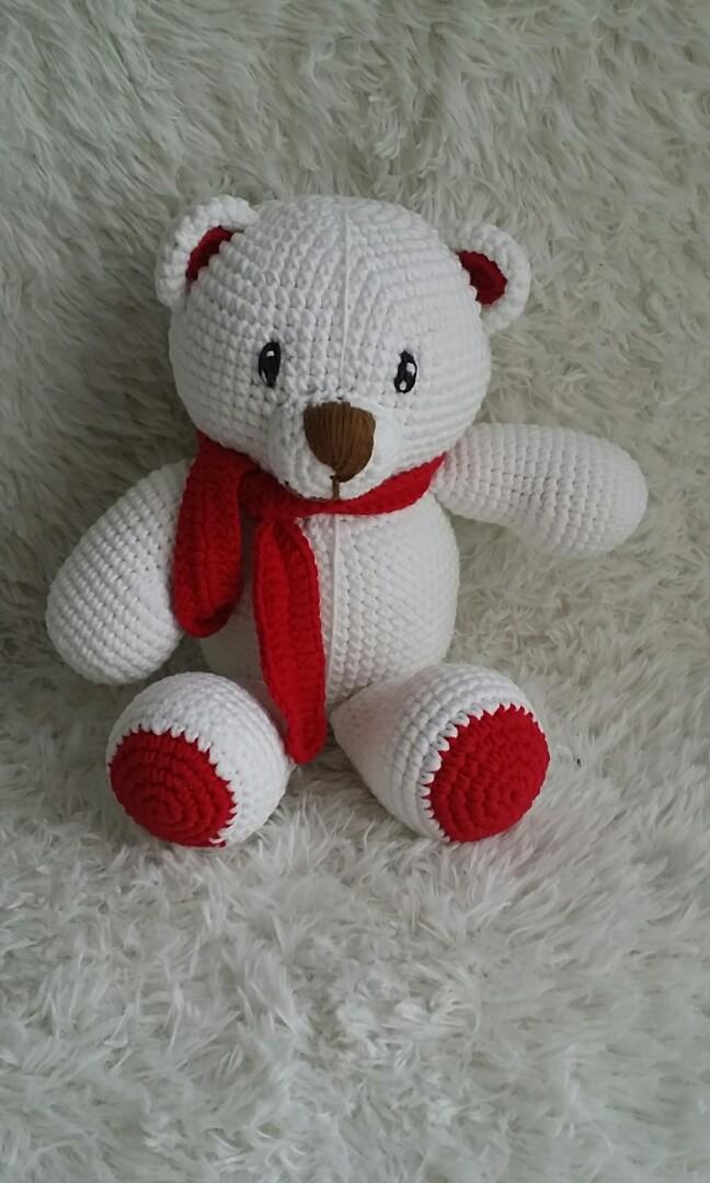 Crochet Bear with Heart, Amigurumi teddy bear, Animal Toy ... | 1080x648