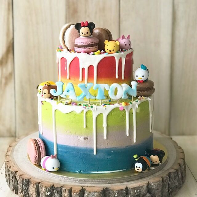 Kids Cake Rainbow 1st Bday Farm Animals Kitty Cat Monkey Food Drinks Baked Goods On Carousell