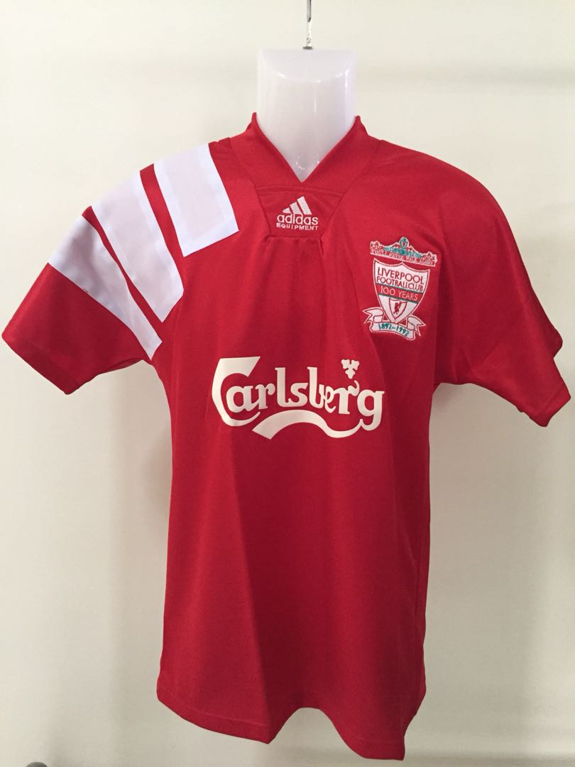 reputable site 43b25 b2ebe Liverpool 1992 Home Jersey