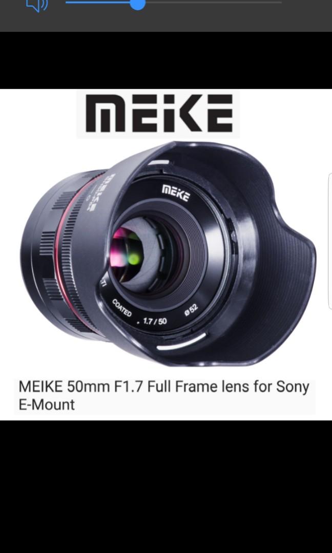 Sony E Mount Full Frame Lenses >> Meike 50mm F1 7 Full Frame Lens For Sony E Mount Photography
