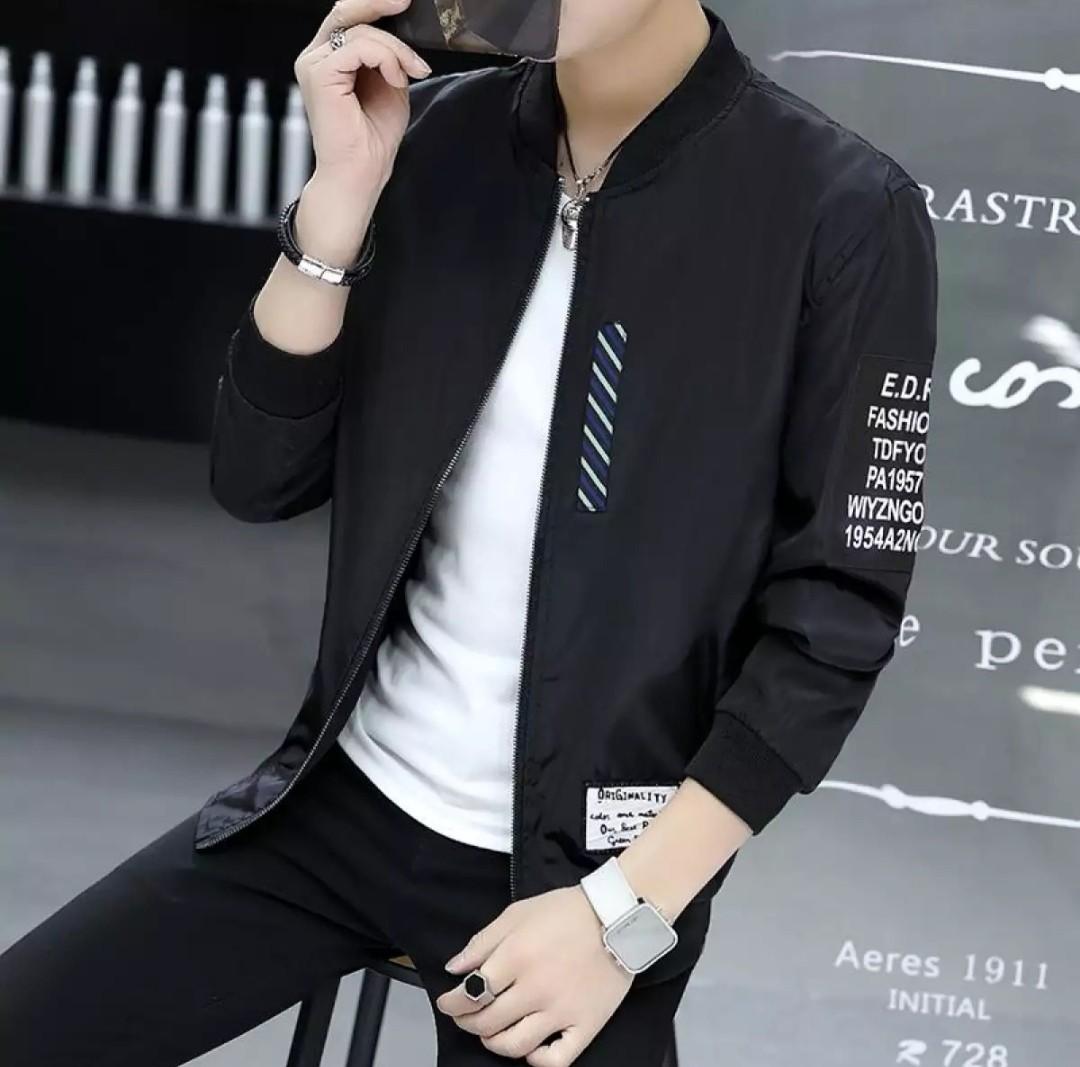 Men Double Sided Wear Jacket Bomber Jackets Coat Mens Fashion Jaket Unisex Nevy Clothes Outerwear On Carousell