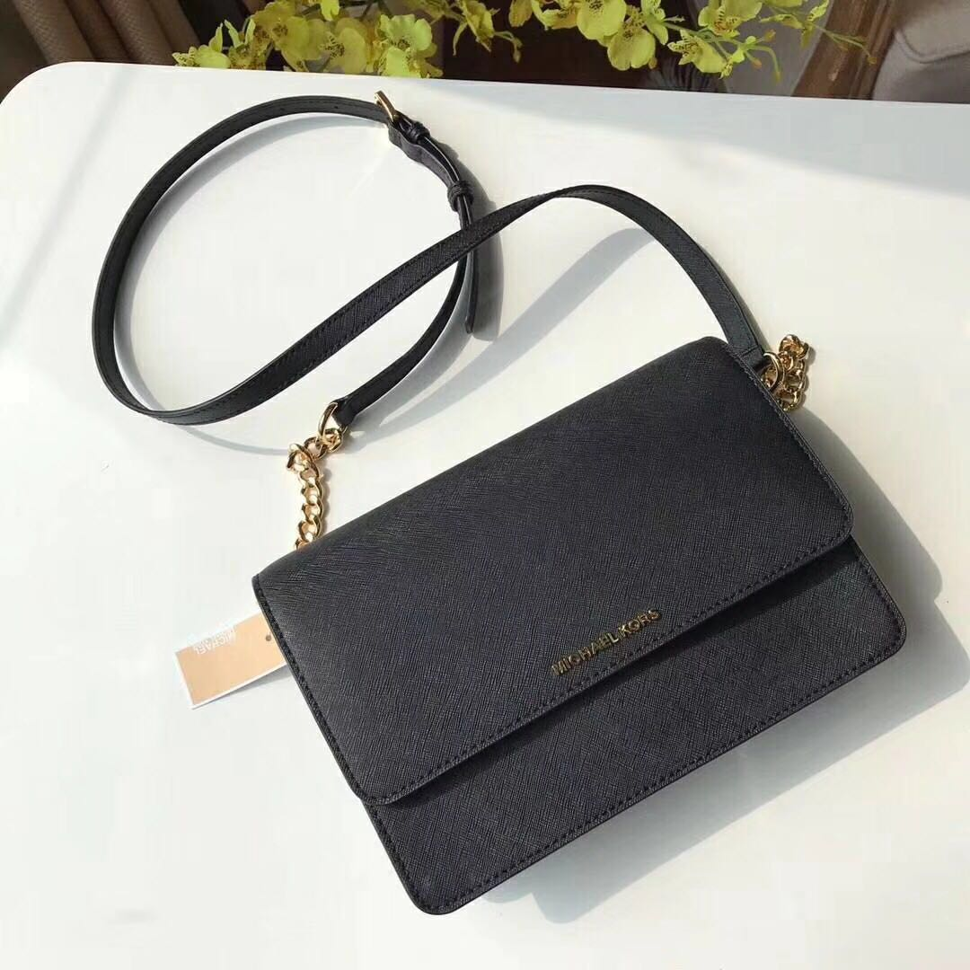 abd018bd8cef Michael Kors Daniela Large Crossbody Bag - black, Barangan Mewah ...