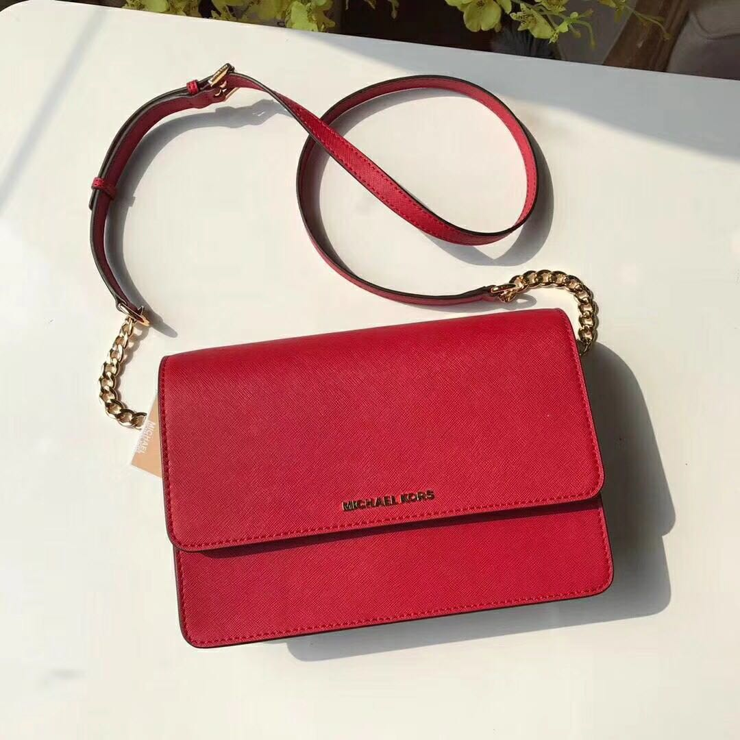 331ff7e048d9 Michael Kors Daniela Large Crossbody Bag - red, Women's Fashion ...