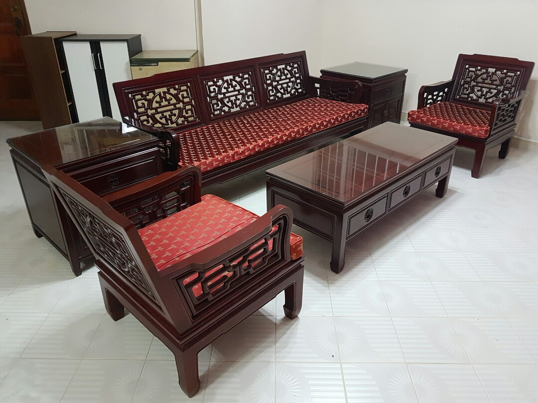 nego authentic rosewood living room furniture 3 1 1 furniture rh sg carousell com
