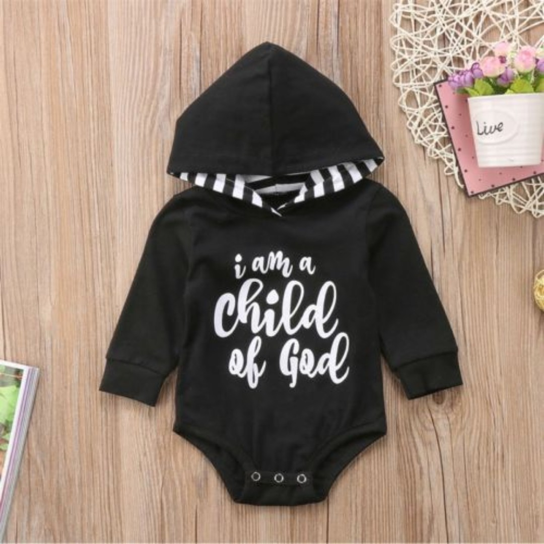 c97141985 Newborn Baby Kid Boy Girl Hoodies Romper Jumpsuit Bodysuit Top ...