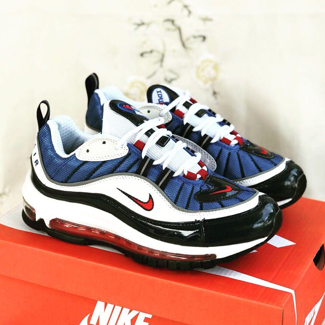 Nike Air Max 98   White Blue ce8f64cd81