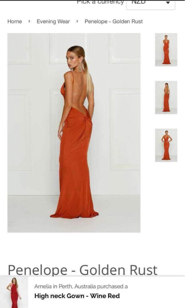 Orange ball dress - tasha Lee designed