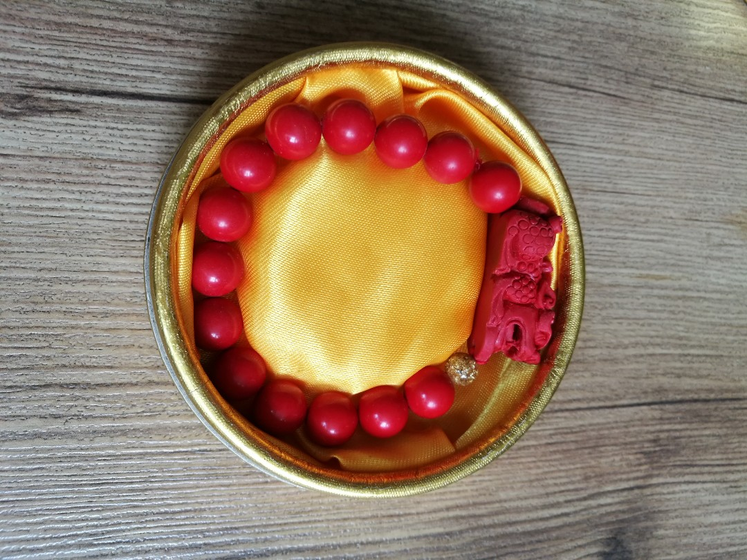 Pixiu Cinnabar Bracelet Unisex Beads