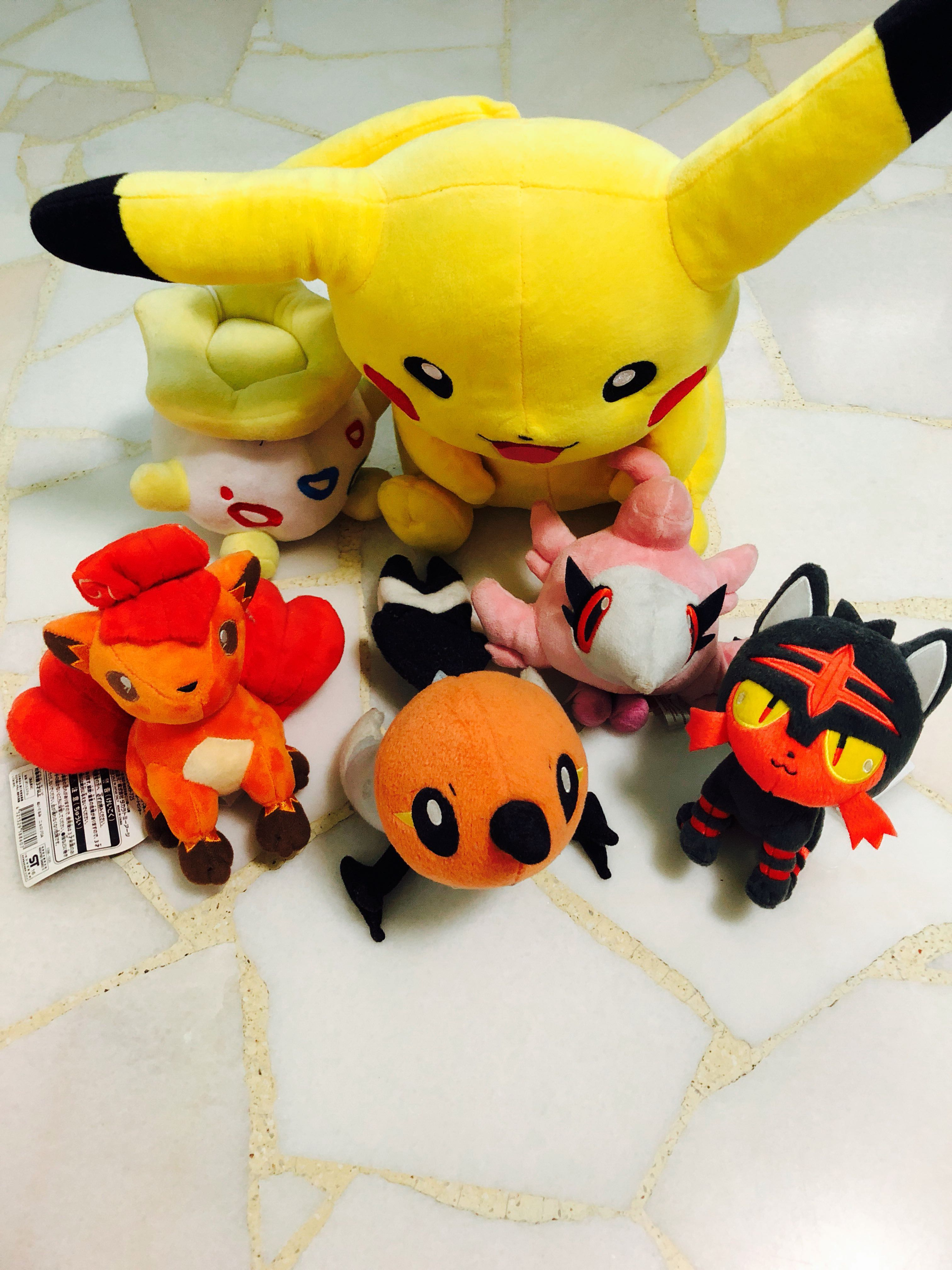 Pokemon Plushies, Toys & Games, Stuffed Toys on Carousell