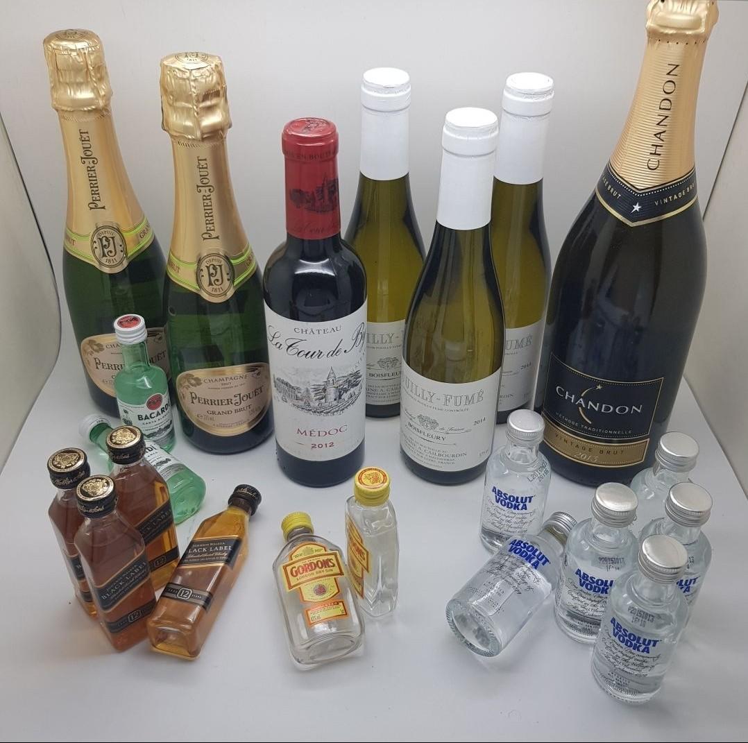 Red Wine Champagne White Wine Whisky Vodka Johnnie Walker Pajangan Mini Bar Dekorasi Rumah Miniatur Alkohol