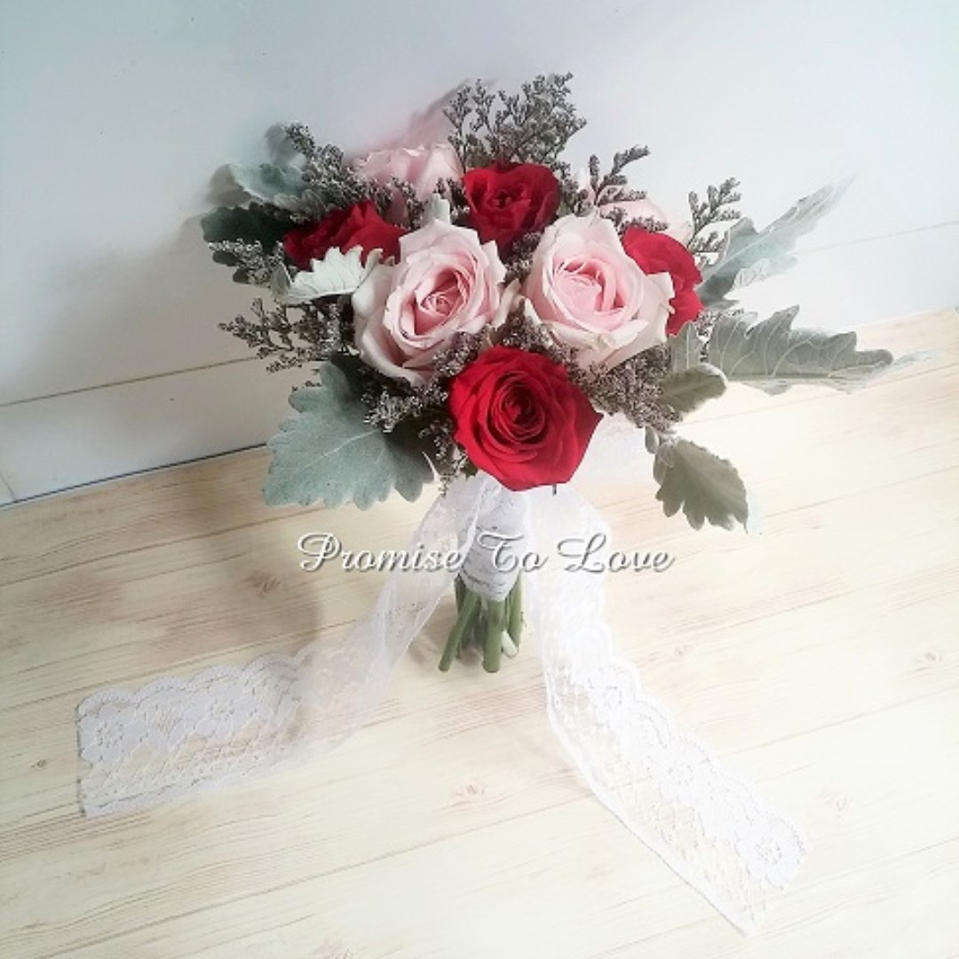 Rustic fresh roses with mixed flowers hand bouquet wedding rom photo photo photo izmirmasajfo