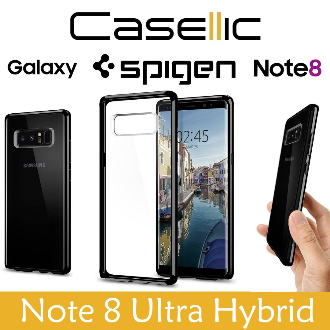 Spigen Samsung Note 8 Ultra Hybrid Midnight Black Case Mobile S Series Galaxy Original Phones Tablets Tablet Accessories Cases Sleeves On Carousell