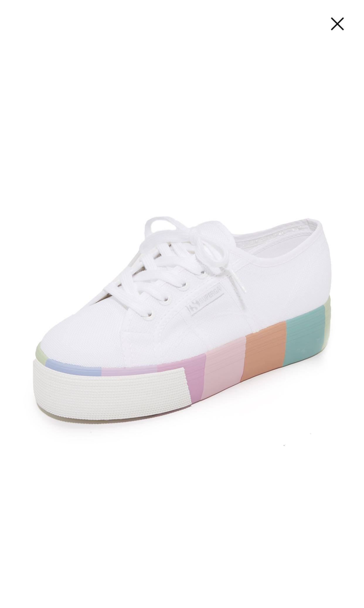 62db882b96e1 Superga multi color platform sneaker US8.5 EU39.5