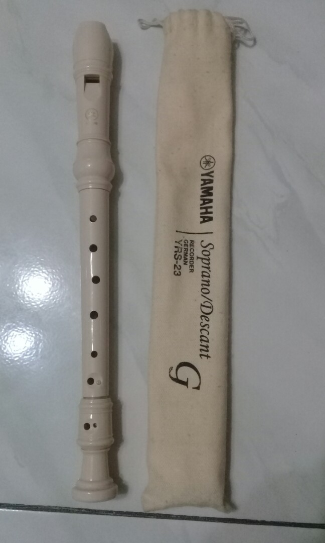 YAMAHA Soprano/Descant German Recorder in G (YRS-23), Music & Media, Music Instruments on Carousell