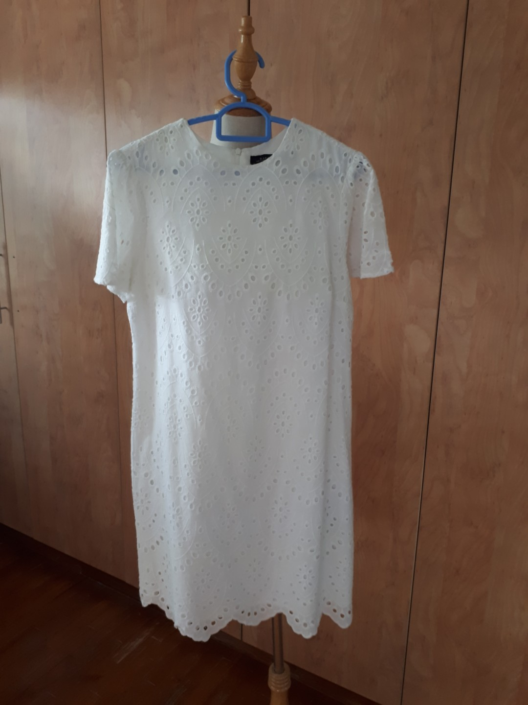 1572edc50b9 Zara white embroidery crochet shift dress mango island shop nautical ...
