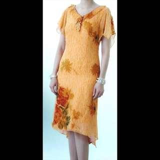 RAMADAN SALE... (KD-16227) Midi Dress Orens Flowery