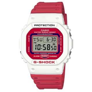 CASIO G-SHOCK DW-5600 series DW-5600TB-4 DW-5600TB-4A 白&紅 GSHOCK DW5600TB
