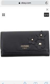 Guess Women's Liya Slim Clutch Tri-Fold Wallet