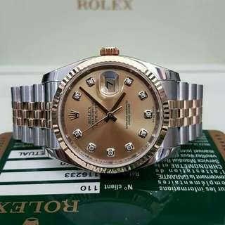 👉KEREN - ROLEX Date Just Diamond 2011 #d2e