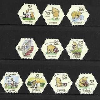 日本2015年祝福郵票G115-G116迪士尼明星信銷郵票20全