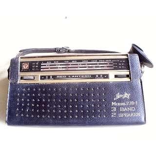 60年代國產紅燈牌3波段收音機一部