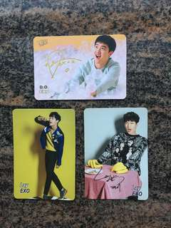 Yes card 男團 EXO Do Lay 金簽 銀簽 $10一張