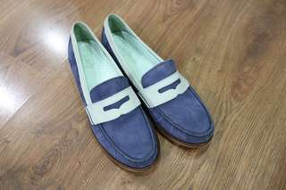 Cole Haan Blue and Green Loafers