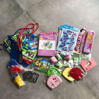 Brand new party bag goody bag items