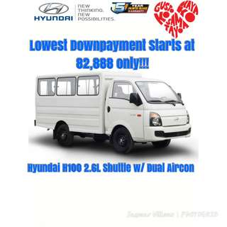 Lowest Downpayment for Hyundai H100 Shuttle with Dual Aircon