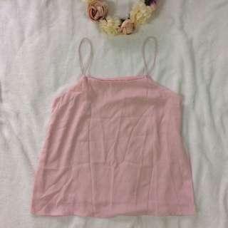 Pastel Pink String Cami Top